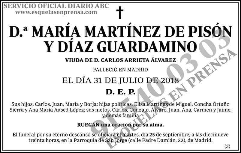María Martínez de Pisón y Díaz Guardamino
